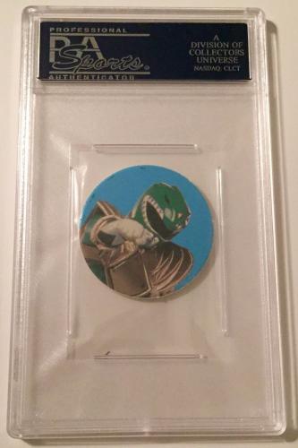 1994 POGS Jason David Frank Green Power Ranger Signed POG #1 PSA/DNA Slabbed