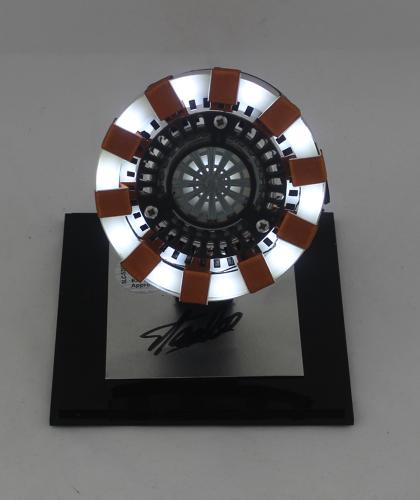 Stan Lee Signed Marvel Avengers Iron Man Arc Reactor Light-Up Handmade Prop in Display Case