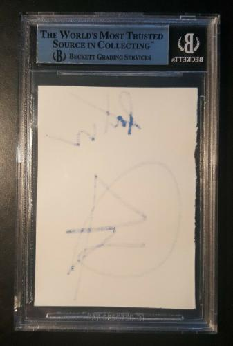 Dave Grohl Pat Smear Nirvana Foo Fighters Signed Authentic Autograph Cut JSA/BGS