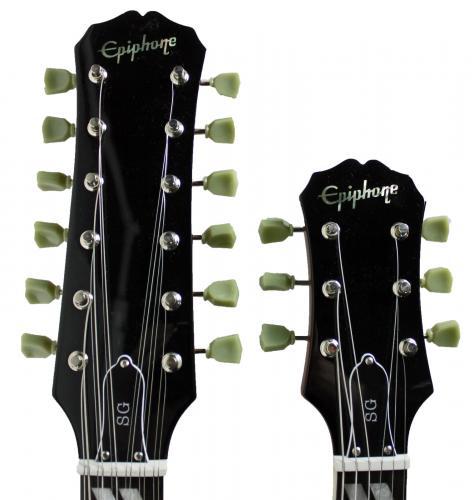 Led Zeppelin (Page, Plant, Jones) Signed Double Neck Epiphone Guitar PSA #Z05754