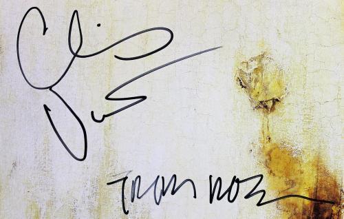 Nine Inch Nails Signed Downward Spiral Album Cover Reznor Vrenna Psa/dna Z03433