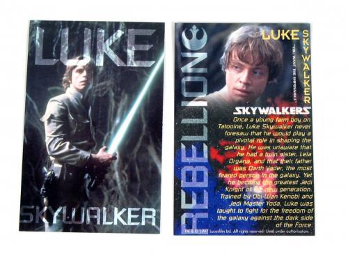 1998 LucasFilm Fan Club UK Star Wars Fan Club Very Rare Card Set (6) Nm/Mt