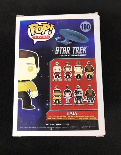 Brent Spiner Signed Star Trek The Next Generation Tng Data Funko Pop Figure