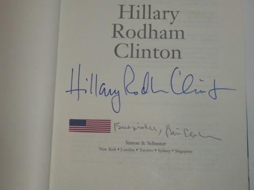 "Bill & Hillary Clinton Signed ""living History"" Book 2016 42nd President Jsa Loa"