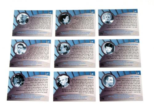 Lot of (10) 1999 Skybox Star Trek Deep Space Nine Memories Future Legend Set (9)