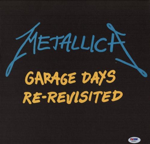Metallica X4 James Hetfield Kirk Lars & Jason Signed Garage Days Promo Flat Psa