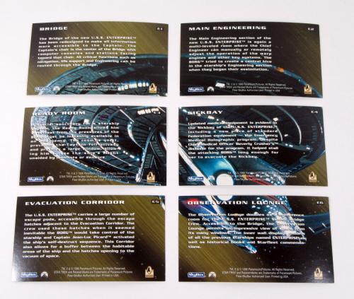 Lot of (10) 1996 Skybox Star Trek First Contact Enterprise Card Set (E1-E6)