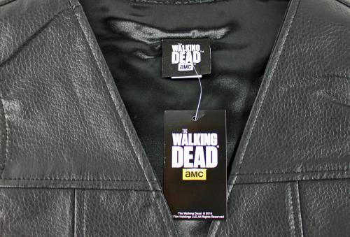 Norman Reedus Signed The Walking Dead Daryl Dixon Faux Leather Vest PSA/DNA