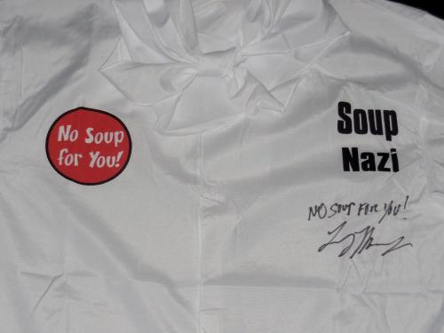 Larry Thomas Autographed Soup Nazi Unirorm (seinfeld) W/ Proof!