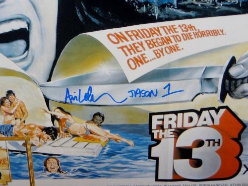 Ari Lehman Jason 1 Signed 16x20 Friday The 13th Horizontal Photo- PSA/DNA Auth