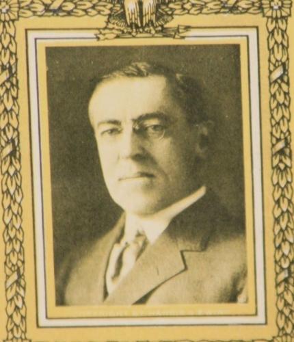 "1916 Woodrow Wilson, President Election Card, 5.625"" x 2.875"