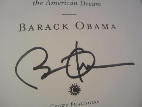 President Barack Obama Signed Autographed Audacity of Hope HC Book JSA COA