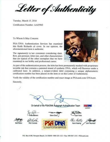 Keith Richards Rolling Stones Autographed Signed CD Authentic PSA/DNA COA