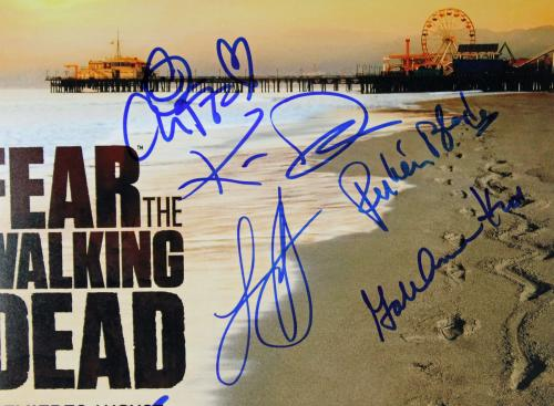 Fear The Walking Dead (9) Nicotero Signed 12x18 Movie Poster PSA/DNA #AB08277