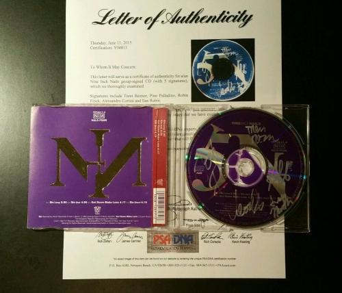 Trent Reznor Nine Inch Nails Band Signed CD AUTOGRAPHED PSA/DNA LOA
