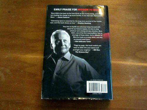 Buzz Aldrin Apollo 11 Astronaut Signed Auto Mission To Mars Book Jsa Authentic