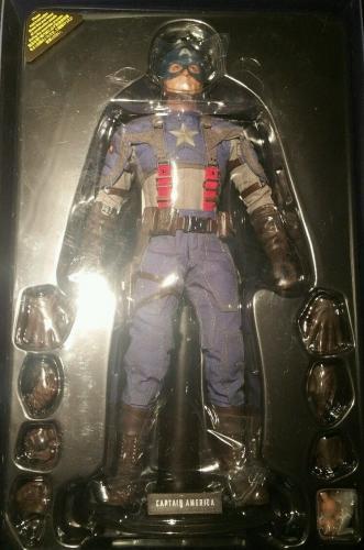 Chris Evans Captain America Signed Autographed Shield Hot Toys PSA/DNA COA 1/6
