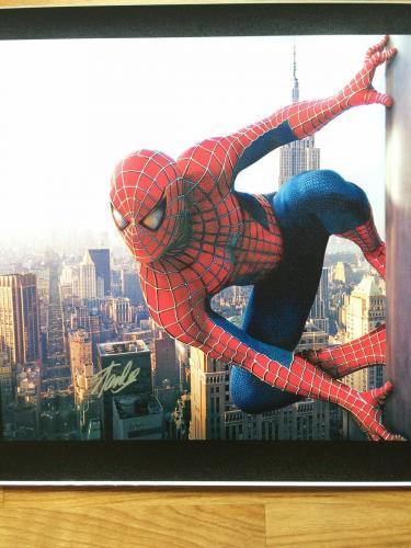 MARVEL COMICS STAN LEE signed 24x40 SPIDERMAN NEW YORK CITY GICLEE CANVAS JSA #2