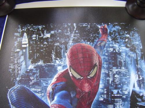 MARVEL COMICS STAN LEE signed 24x40 SPIDERMAN NEW YORK CITY GICLEE CANVAS JSA #3