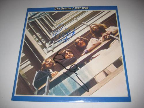 PAUL McCARTNEY & RINGO STARR Signed THE BEATLES 1967-70 Album w/ PSA LOA