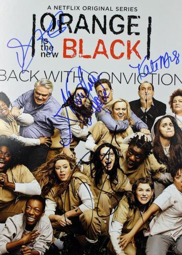Orange Is The New Black (Taylor Schilling, +3) Signed 12x18 PSA/DNA #AB10808