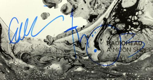 Radiohead (5) Signed A Moon Shaped Pool Album Cover W/ Vinyl PSA/DNA #AB10731