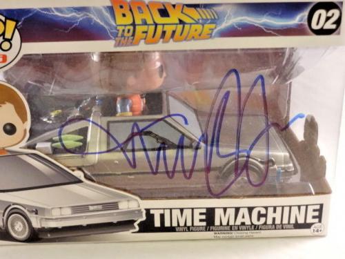 Michael J Fox Signed Back To The Future Time Machine Funko Pop Psa/dna