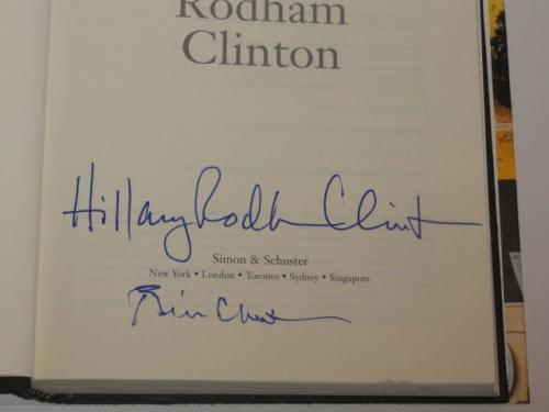 "Bill Clinton Hillary Rodham Clinton Signed ""living History"" Book 2016 Jsa Loa"