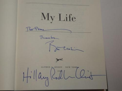 "Bill Clinton Hillary Rodham Clinton Signed ""my Life"" Book 45th President Jsa Loa"