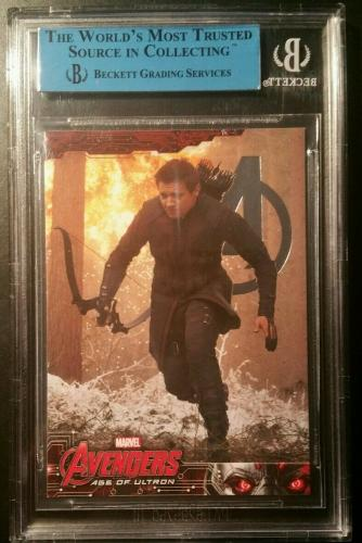 Jeremy Renner Hawkeye Avengers UD Foil AUTO Signed Autograph JSA BGS AUTHENTIC