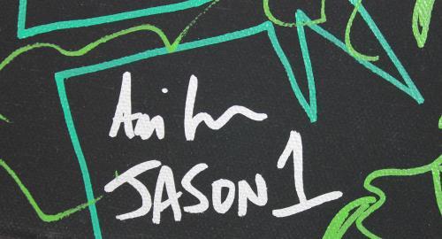 "Ari Lehman ""Jason"" Friday The 13th Signed 11x14 Canvas Sketch PSA/DNA #7A71728"