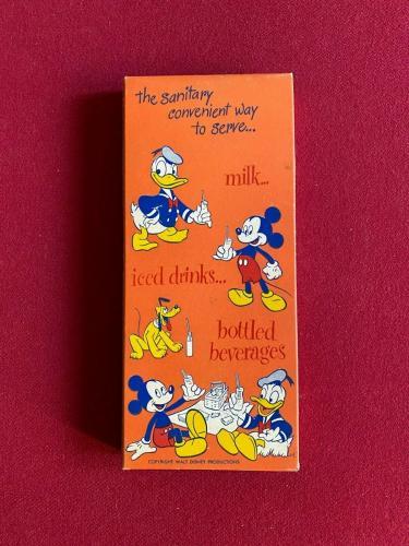 "1950's, Walt Disney, ""Un-Opened"" Donald Duck Paper Drinking Straws (Vintage)"