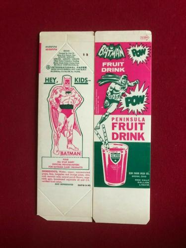"1968, Batman, ""Un-Used"" Fruit Drink Container (Scarce / Vintage)"