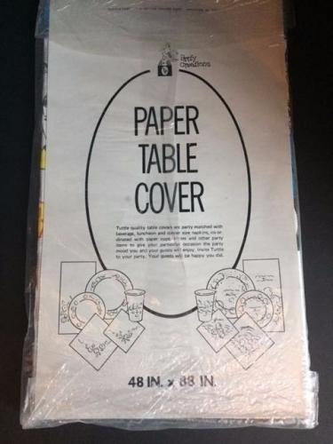 "1976 Star Trek, ""Un-Opened"" Paper Table Cover"