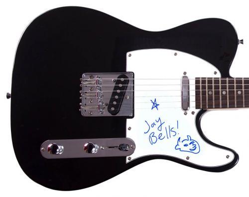 Jack Black Autographed Tenacious D Sketch Tele Guitar UACC RD CO AFTAL
