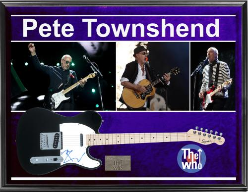 The Who Pete Townshend Autographed Signed Fender Tele Guitar + Display AFTAL