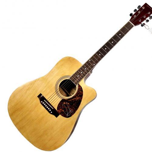Adam Levine Autographed Signed 6-String Acoustic Guitar UACC RD COA AFTAL