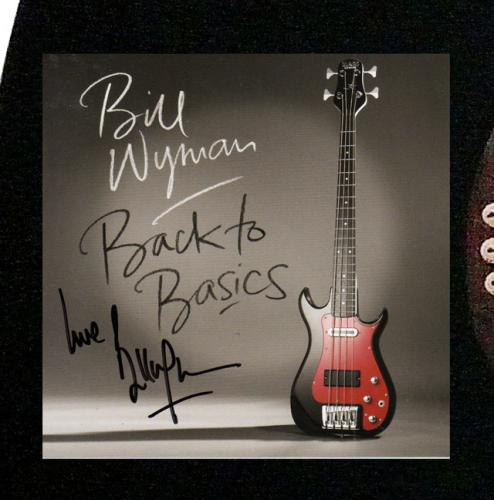 Bill Wyman Signed CD Cover 12 String Acoustic Guitar UACC RD COA AFTAL
