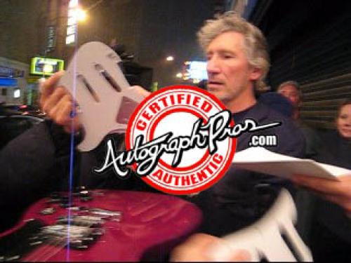 Pink Floyd Roger Waters Signed Airbrushed Bass Guitar PSA AFTAL UACC RD COA