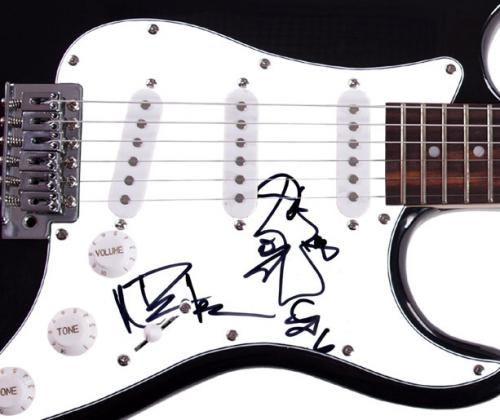 The Dave Matthews Band Autographed Guitar w Artwork + Video Proof AFTAL