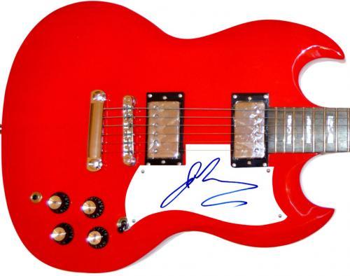 The Goo Goo Dolls Johnny Rzeznik Signed Red Guitar AFTAL UACC RD COA