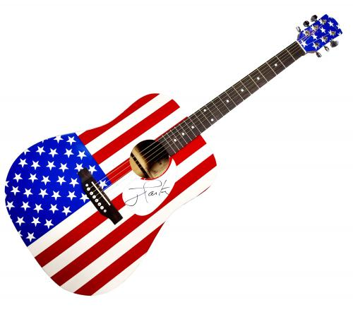 President Jimmy Carter Autographed Signed USA Acoustic Guitar AFTAL UACC RD