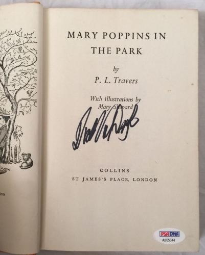 DICK VAN DYKE Signed Vintage 1965(c) MARY POPPINS Hardcover Book PSA/DNA COA