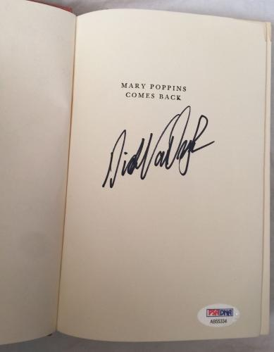 DICK VAN DYKE Signed Vintage 1963 ((c)) MARY POPPINS Hardcover Book PSA/DNA COA!