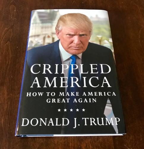 45th President Donald Trump Signed Crippled America Hardback Book PSA/DNA COA