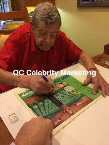 JERRY LEWIS Signed The Bell Boy Original Lobby Card Beckett BAS COA Proof #21