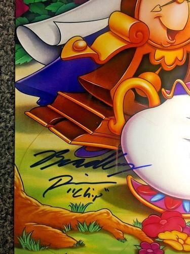 Paige O' Hara Robby Benson Cast Signed Beauty & The Beast 11x17 Photo BAS COA A