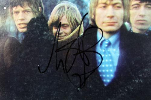 Rolling Stones Keith Richards & Charlie Watts Signed Album Cover W/ Vinyl BAS