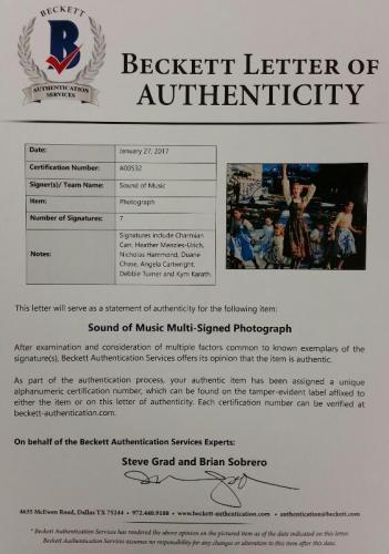 SOUND OF MUSIC Cast Signed 11x14 Photo (7) Autos Image #6 w/ Beckett BAS COA