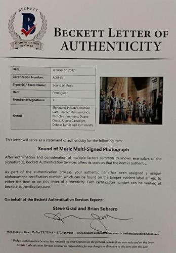SOUND OF MUSIC Cast Signed 11x14 Photo (7) Autos Image #9 w/ Beckett BAS COA